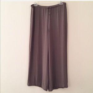 Emanuel Ungaro silk drawstring cropped pants